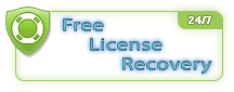 Free License Recovery 27/7 Service.