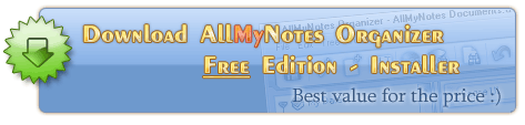 Download All My Notes Organizer Free Edition - the best personal info manager free tool :)