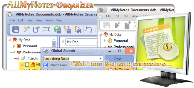 All-My-Notes Organizer - the best OneNote replacement tool - Screenshots